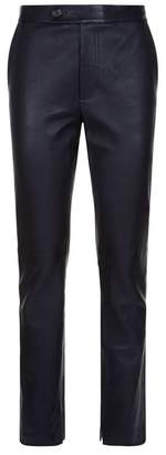 Helmut Lang Leather Straight Leg Trousers