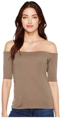 Splendid Off Shoulder Top Women's Short Sleeve Pullover