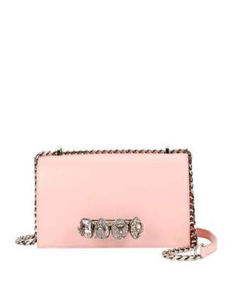 Alexander McQueen Jeweled Knuckle Flap Box Shoulder Bag