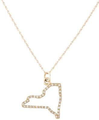 Maya Brenner Designs 14K Diamond New York Pendant Necklace