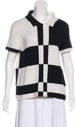 Chanel Cashmere Colorblock Top