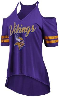 Majestic Women's Minnesota Vikings Gameday Cold-Shoulder Tee