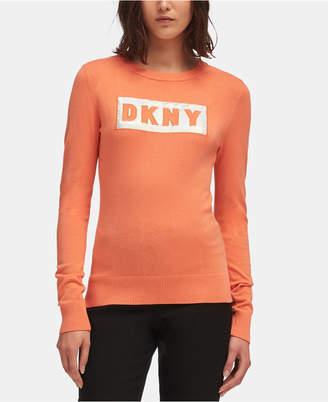 DKNY Block-Letter Logo Sweatshirt