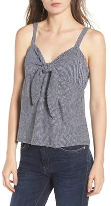 Socialite Knot Front Tank Top