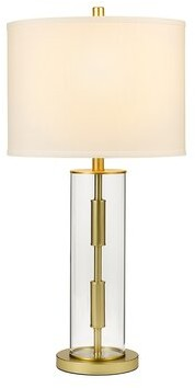 "George Oliver Gilreath Glass Cylinder 30"" Table Lamp George Oliver"
