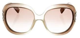 Giorgio Armani Embellished Oversize Sunglasses