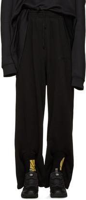 Gosha Rubchinskiy Black Double Cuff Lounge Pants $185 thestylecure.com