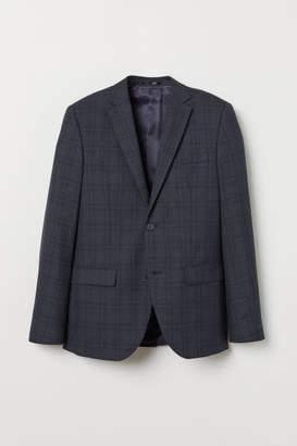 H&M Slim Fit Wool-blend Blazer - Blue