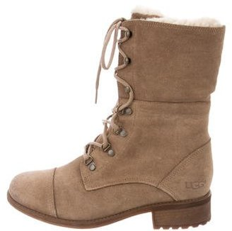 UGG Australia Mid-Calf Shearling Boots $85 thestylecure.com