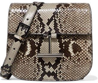 Tom Ford Tara Mini Python Shoulder Bag - Dark gray
