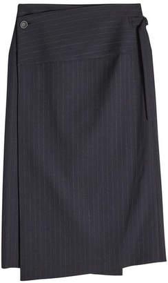 Joseph Aiken Broken Stripe Wool Skirt
