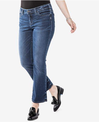 Silver Jeans Co. Trendy Plus Size Aiko Slim Cropped Boot-Cut Jeans