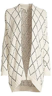 Eileen Fisher Women's Diamond Knit Kimono Cardigan
