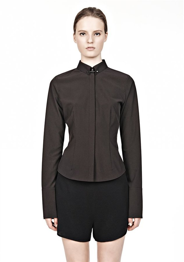 Alexander Wang Fitted Shirt With Collar Pin