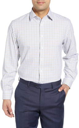 Nordstrom Tech-Smart Traditional Fit Plaid Stretch Dress Shirt