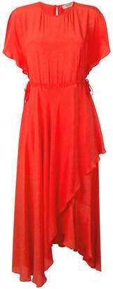 Twin-Set ruffled midi dress