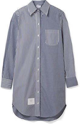 Thom Browne Oversized Cotton-poplin Shirt Dress - Navy