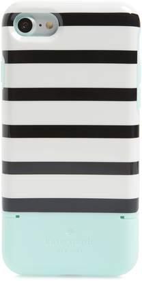 Kate Spade stripe credit card iPhone 7/8 & 7/8 Plus case