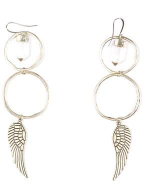 clear Tiana Jewel - Statement Wing Canyon Quartz Earrings