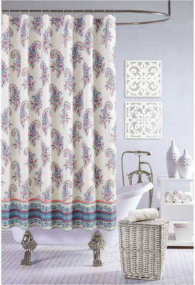 Jessica Simpson Gemma Shower Curtain, 100% Cotton Bedding