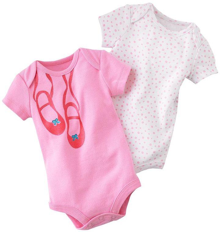Baby Starters 2-pk. polka-dot ballet slippers bodysuits - baby