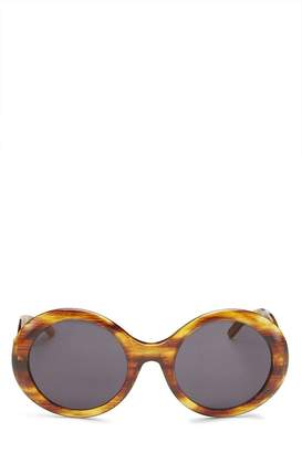 Gucci Brown Faux Tortoiseshell Round Sunglasses