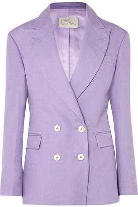 Hillier Bartley - Double-breasted Linen Blazer - Lilac
