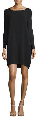 Eileen Fisher Long-Sleeve Silk Dress $308 thestylecure.com