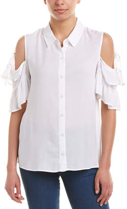 BCBGeneration Cold-Shoulder Blouse