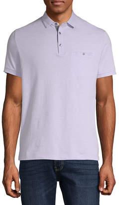Claiborne Short Sleeve Slim Fit Grosgrain Polo