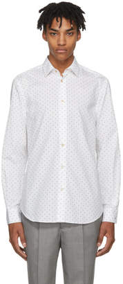 Paul Smith White Small Heart Dress Shirt