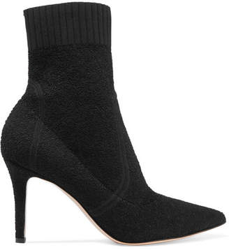Gianvito Rossi 85 Stretch-terry Sock Boots - Black