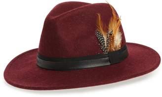 Treasure & Bond Feather Trim Panama Hat