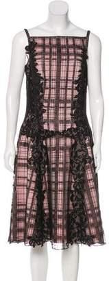 Tadashi Shoji Lace Paneled A-Line Dress