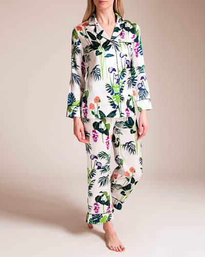 Olivia Von Halle Lila George Silk Pajama