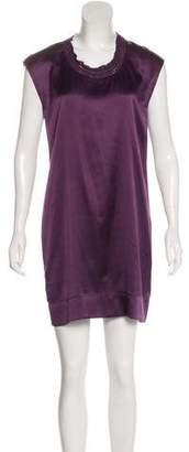 Theory Sleeveless Satin Mini Dress