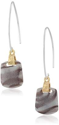 Nine West Women's Tri-Tone and Threader Drop Earrings