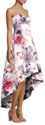 Parker Black Roxanne Floral Off-The-Shoulder Dress