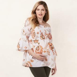 Lauren Conrad Maternity Smocked Off-the-Shoulder Top