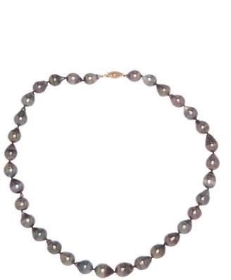 Tara Pearls 14K Yellow Gold 8-10mm Tahitian Pearl Strand Necklace