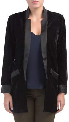 Juniors Curran Oversize Velvet Blazer