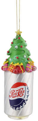 Asstd National Brand 4.75 Silver Pepsi Bottle Cap Can with Christmas Tree Topper Decorative Glass Ornament