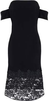 Sachin + Babi Off-The-Shoulder Guipure Lace-Paneled Crepe Midi Dress
