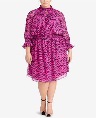 Rachel Roy Trendy Plus Size Leopard-Print Dress