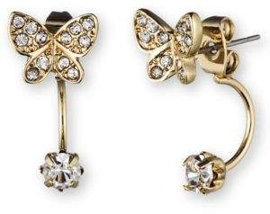 lonna & lilly Butterfly Ear Jacket and Stud Earrings Set