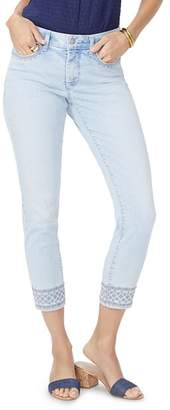 NYDJ Ami Embroidered Ankle Skinny Jeans in Palm Desert