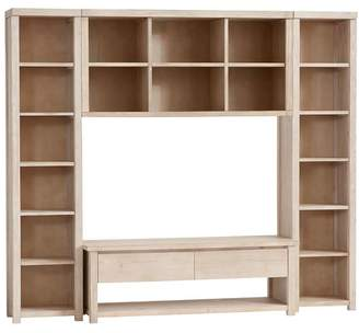 Pottery Barn Teen Costa Media Superset, Weathered White