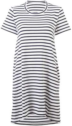 Sacai striped open-back T-shirt dress