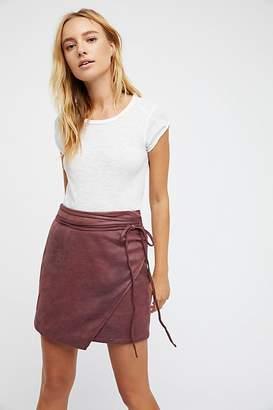 Walk On By Vegan Mini Skirt