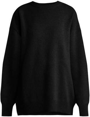 Raey Displaced-sleeve round-neck wool sweater